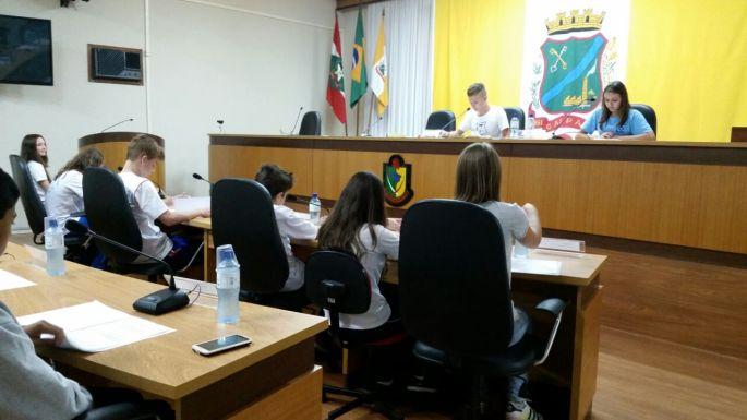 Sessão de eleição da mesa diretora dos vereadores mirins de Gaspar - Rogério do PT, Vereador Rogério,